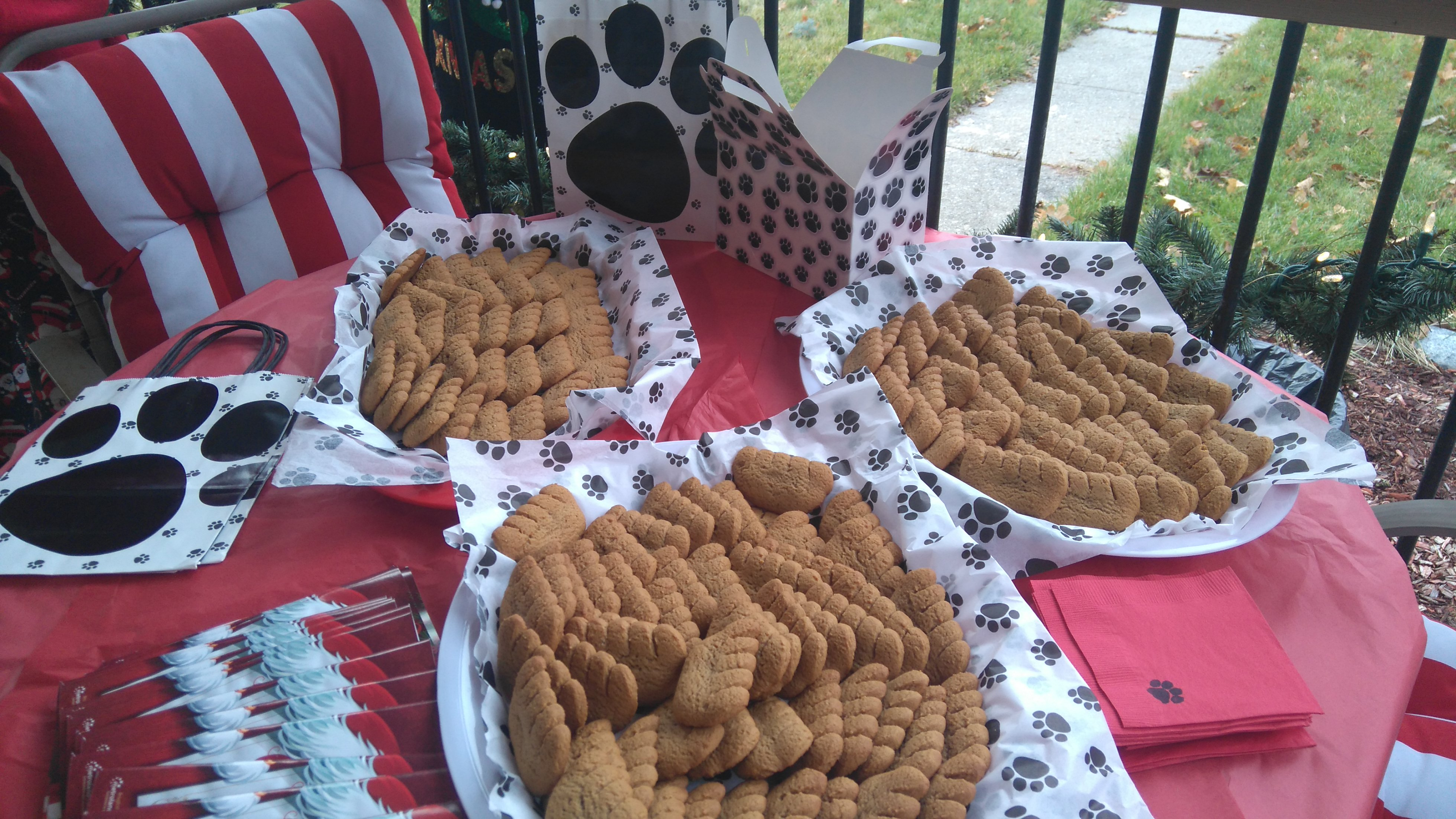 Whitby Santa Claus Parade - dog biscuits